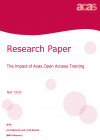 Evaluation of the impact of Acas open access training 2016